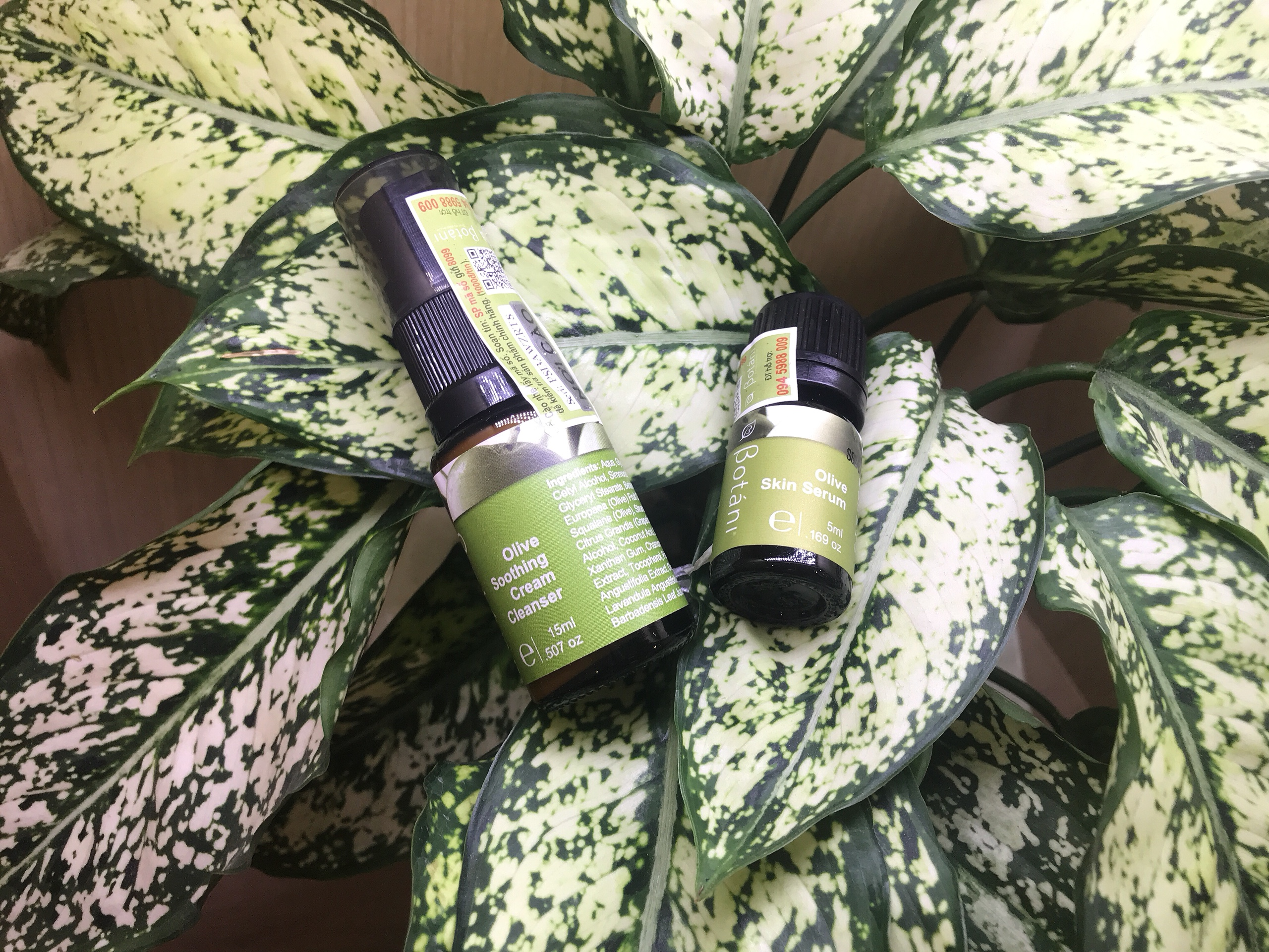 soothing cream + olive serum