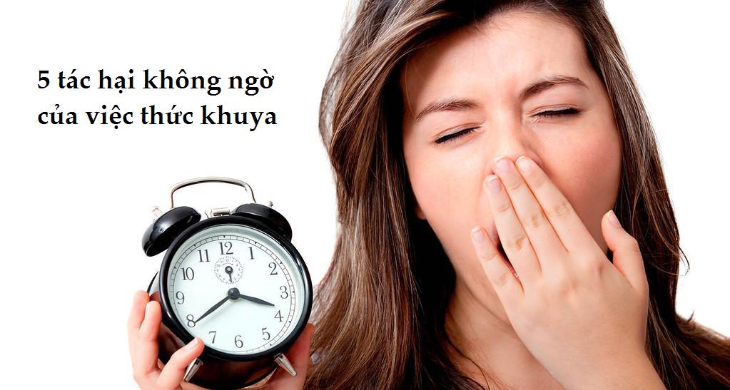 Tác hại của việc thức khuya