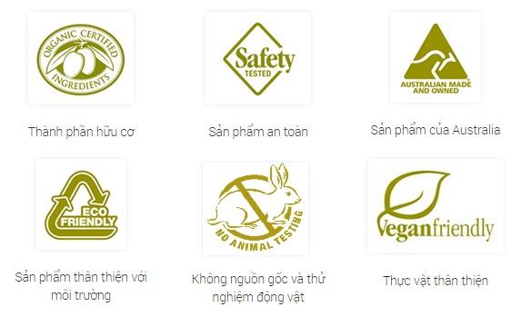 Chứng nhận an toàn sản phẩm Botani Australia